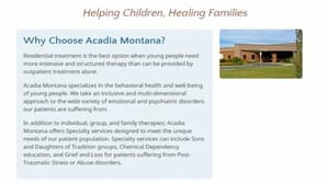 Acadia Montana Butte Montana